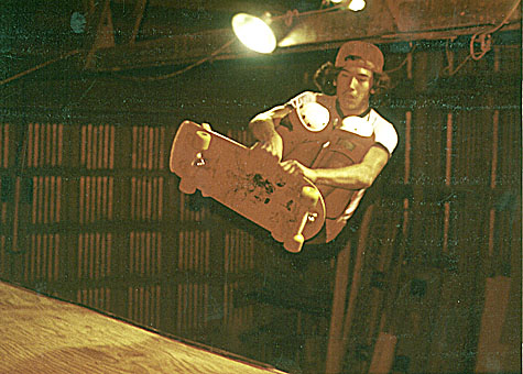 MC Circa 1978 @ Larry Desanno's ramp; photo Tom Huckabee