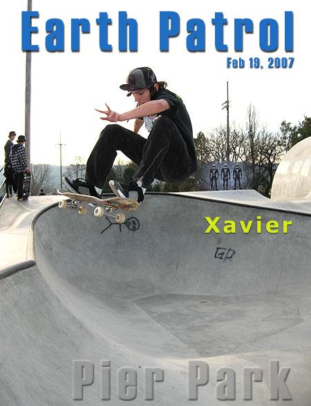 Xavier Pinard - FS Ollie over Hip @ Pier