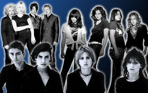 (F to B): Elastica, The Donnas, Kenickie