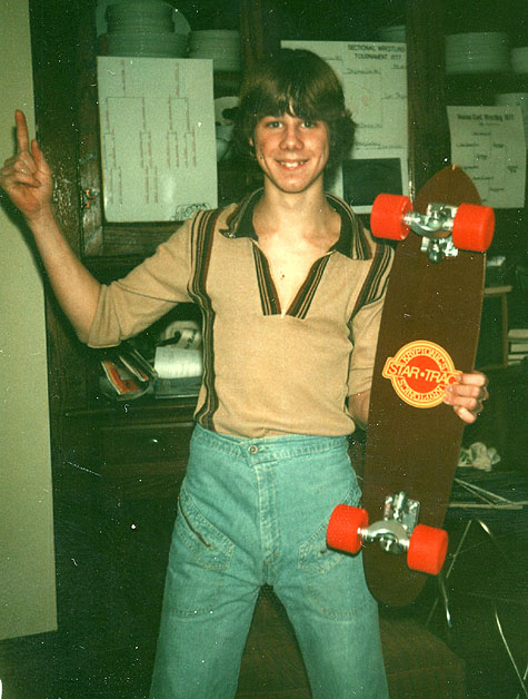 Ben with G&S Fiberflex, 70mm Kryptonics and Gullwings - 1977