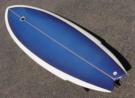 One of Ben's Original Surfboards
