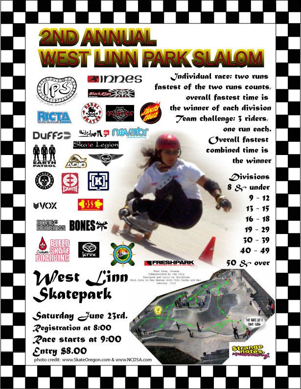 West Linn Park Slalom Flier