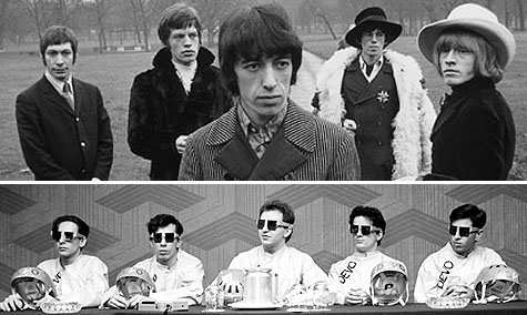 Rolling Stones (top) - Devo (bottom)