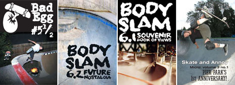 Skateboarding Microzines